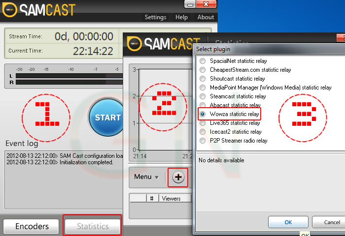 Estadisticas de la radio - Sam Broadcaster