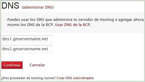 DNS de Dominio